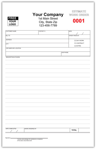 Appliance Repair Invoice