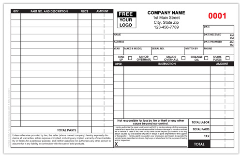 Small Engine Repair Form