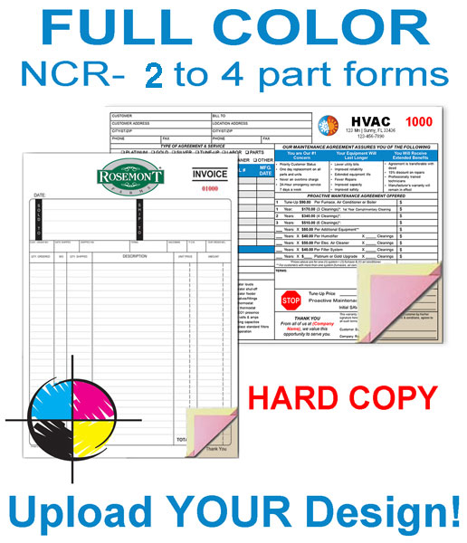 Multi-Color Forms with Hard Back