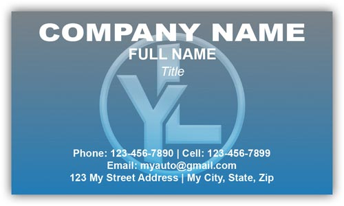 Business Card for Hyundai Auto Sales with Logo