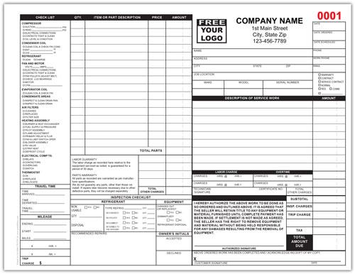 HVAC Service Order Form