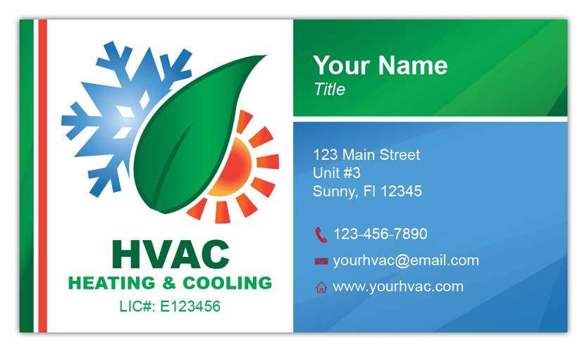 Eco Friendly HVAC Business Card