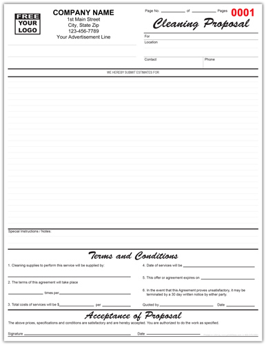 Janitorial Maintenance Agreement Form