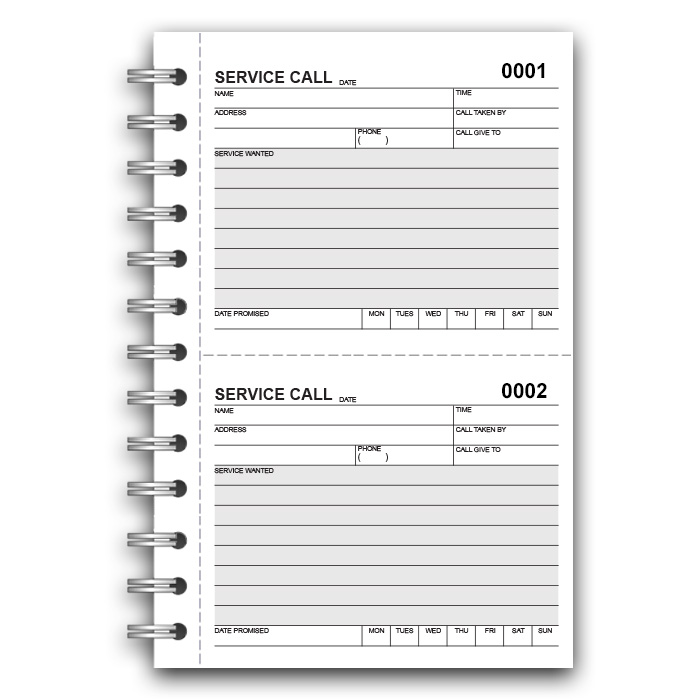 Service Call Book