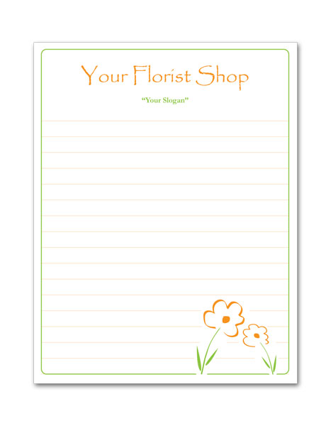 Florist Shop Notepad-Small
