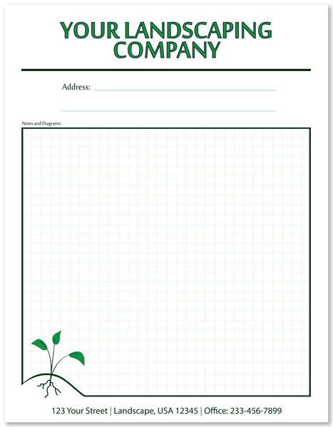 Full Page Personalized Lawn Care Notepad
