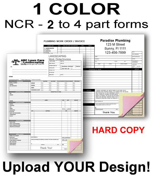 Custom Forms w/ Hard Back