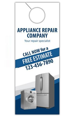 Appliance Repair Door Hanger Design