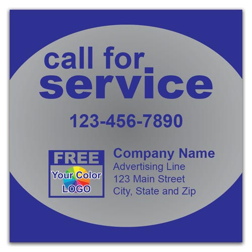 call-for-service-label-silver