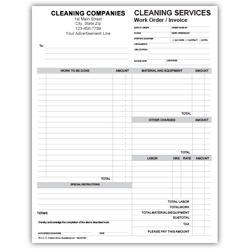 Cleaning Forms