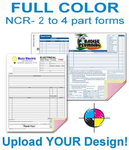 Custom full color NCR Forms