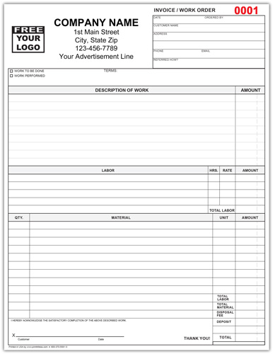 Invoice Work Order