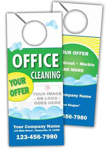 Office Cleaning Door Hanger 2 sided