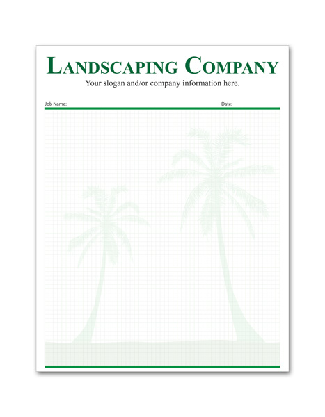 Small Custom Printed Landscaping Notepad