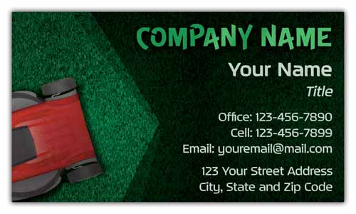 Lawn Care Service Business Cards