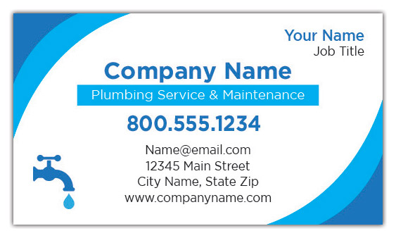 Plumbing services business cards
