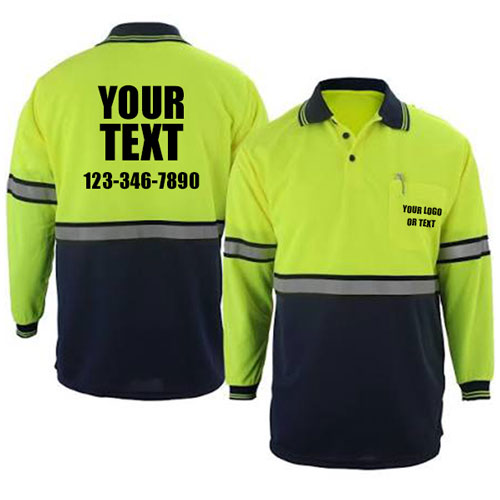 Custom Reflective Long Sleeve Polos