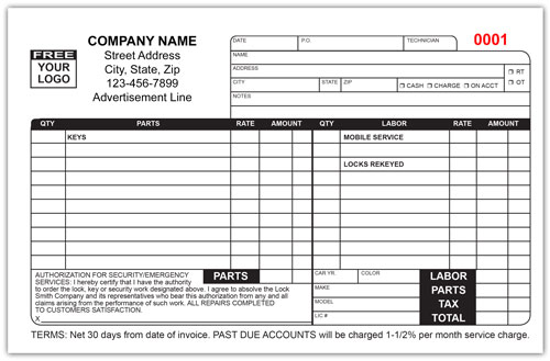 Security System Invoices