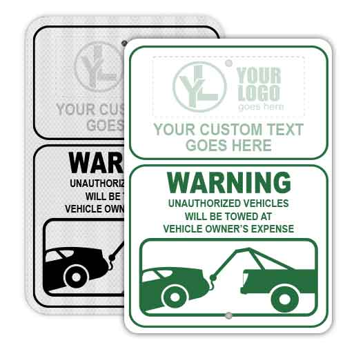 Custom Unauthorized Towing Signs