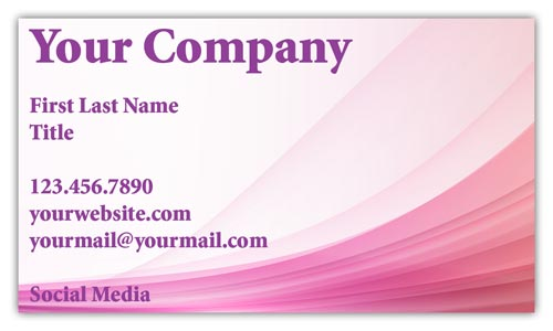 Pink Modern Business Cards
