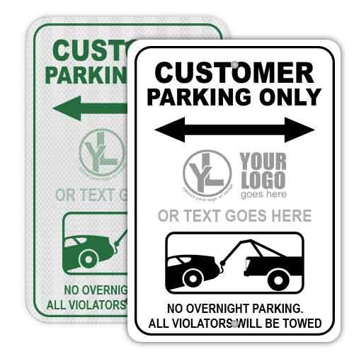 Custom Customer Parking Signs