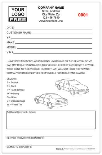 Towing Waiver Forms