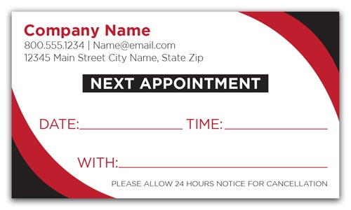 Black and Red Appointment Cards
