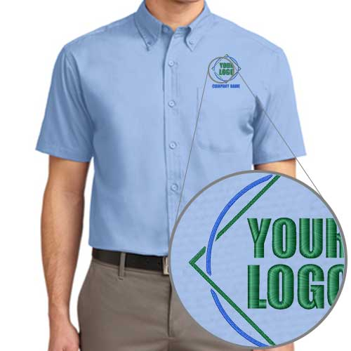 Company Dress Shirts with Embroidered Logo