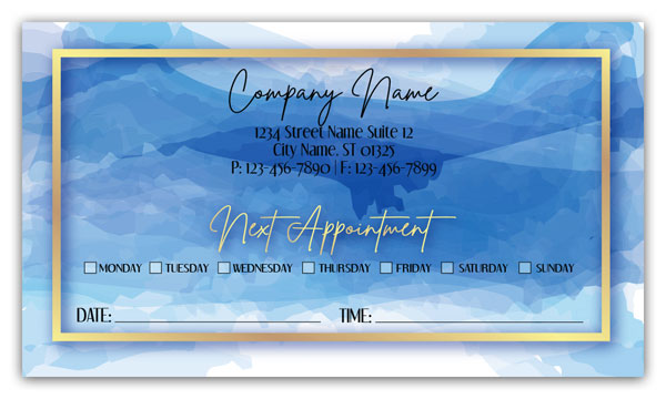 Blue Painters Appointment Cards